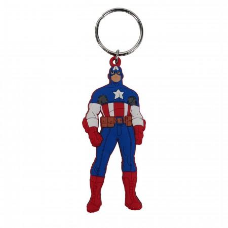 Captain America Stance PVC Keychain