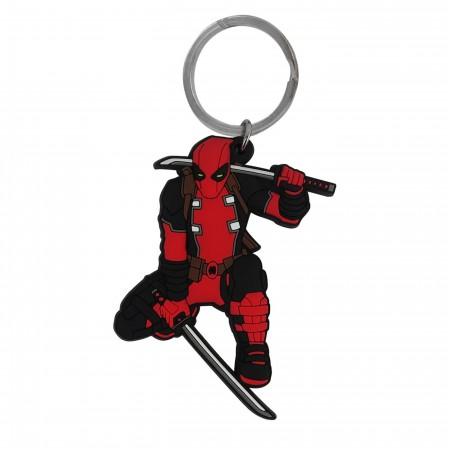 Deadpool Action Soft PVC Keychain