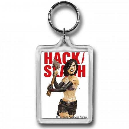 Hack Slash Cassie Axe Lucite Keychain