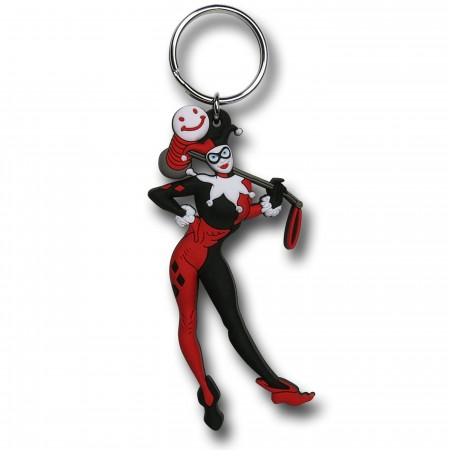 Harley Quinn Soft Touch PVC Keychain