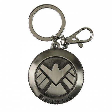 Marvel Agents of Shield Logo Pewter Keychain