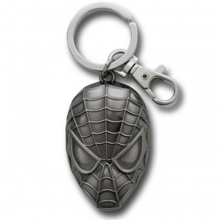 Spider-Man Shiny Head Pewter Keychain