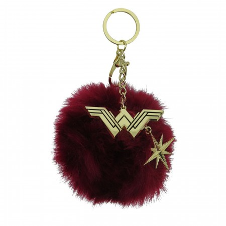 Wonder Woman Movie Pom Pom Handbag Charm Keychain