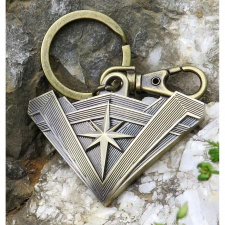 Wonder Woman Movie Tiara Symbol Pewter Keychain