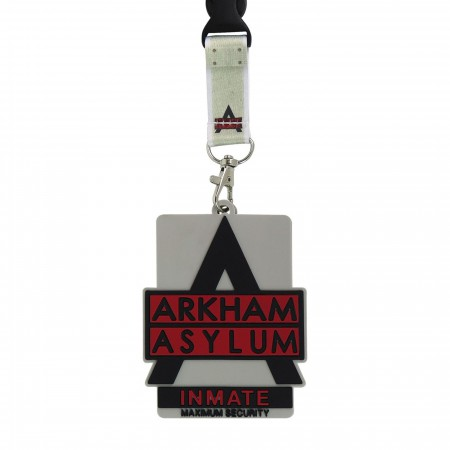 Arkham Asylum Logo Lanyard with Rubber ID Holder