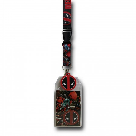 Deadpool Comic Image Lanyard