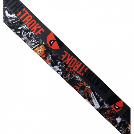 Deathstroke Classic Logo Lanyard with PVC Charm