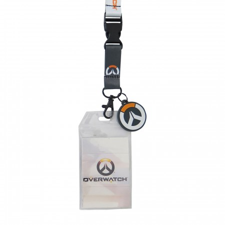 Overwatch Logo Lanyard with PVC Charm