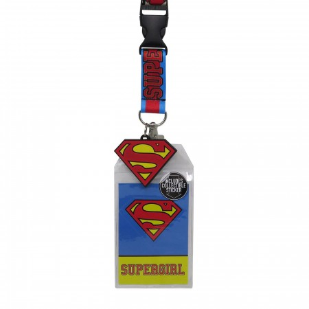 Supergirl Classic Logo Lanyard with PVC Charm