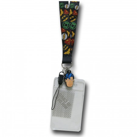 DC Comics Soft Touch Lanyard with Superman Charm