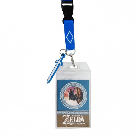 Zelda Breath of the Wild Lanyard with PVC Charm