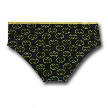 Batgirl Stretch Satin Women's Corset & Panty Set