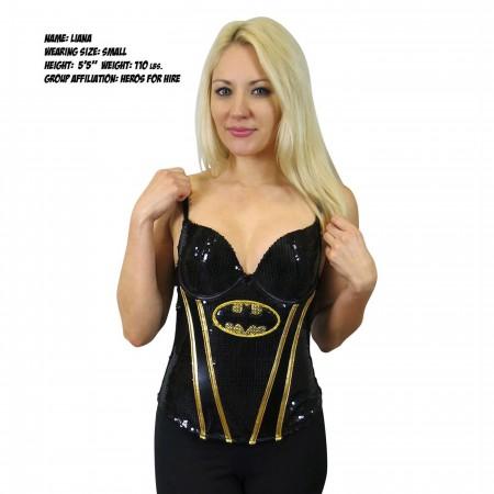Batgirl Women's Sequin Corset