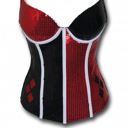Harley Quinn Women's Sequin Corset
