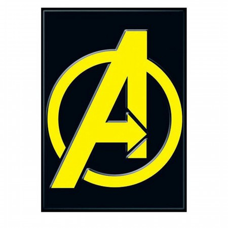 Avengers Black and Yellow Symbol Magnet