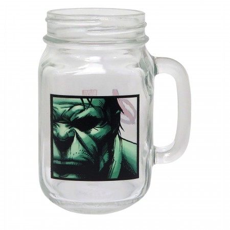 Hulk Close-Up Mason Jar Mug