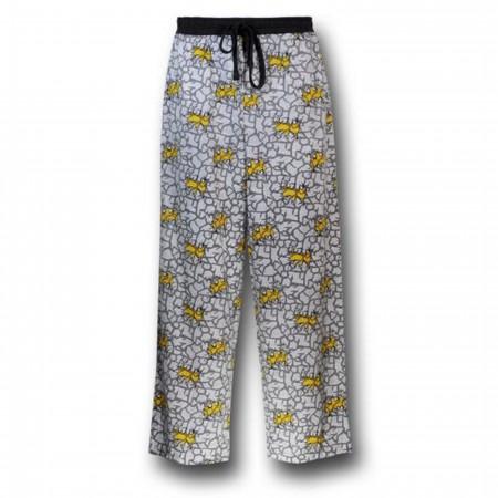 Batman Grey and Yellow Pajama Pants