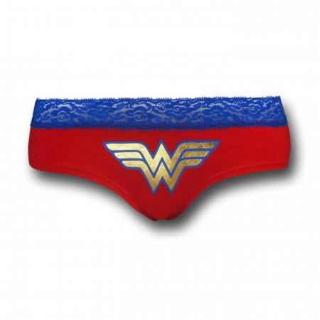 Wonder Woman Women's Lace Trim Hipster Briefs