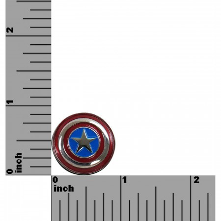 Captain America Shield Colored Lapel Pin