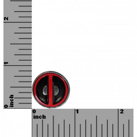 Deadpool Symbol Colored Lapel Pin