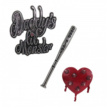 Harley Quinn Lapel Set of 3