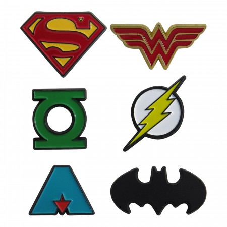 Justice League Boxed Lapel Pin Set of 6