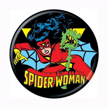 Spiderwoman Classic Button
