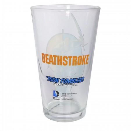 Deathstroke Action Pint Glass