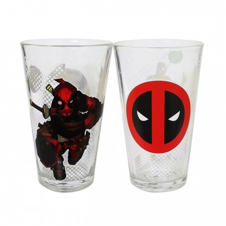 Deadpool Thumbs Up Pint Glass 2-Pack