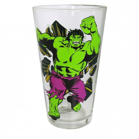 Hulk Retro Pint Glass