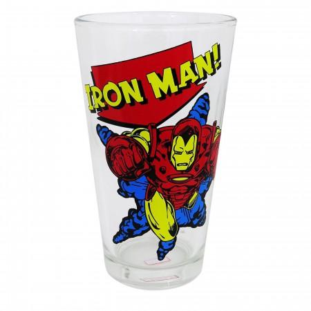 Iron Man Blast Off Pint Glass