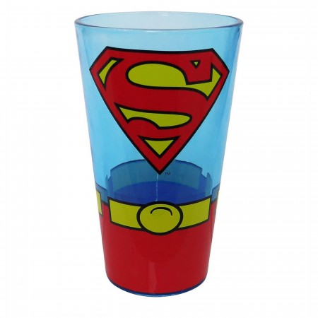 Superman Classic Costume Pint Glass