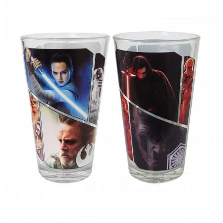Star Wars The Last Jedi Pint Glass 2-Pack