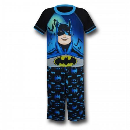 Batman Kids Bat and Blue Pajama Set