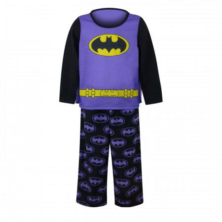 Batgirl Caped Purple Girls Pajama Set