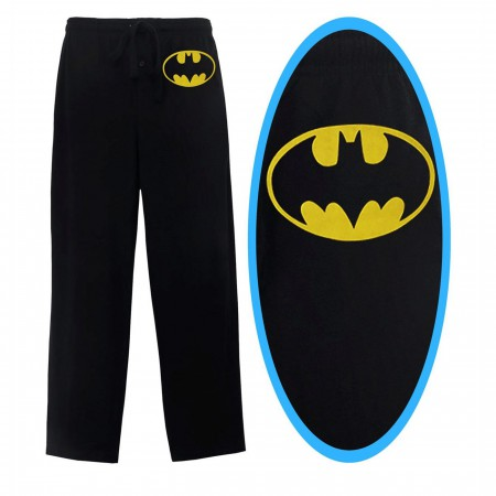 Batman Yellow Symbol Black Sleep Pants