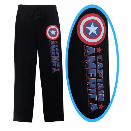 Captain America Comic Logo Men's Pajama Pants