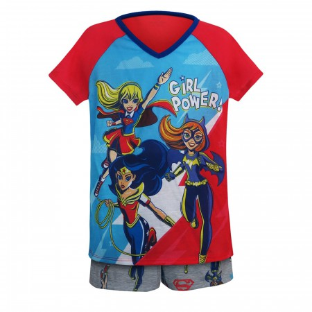 DC Superhero Girls Girl Power Juvenile Top & Short Set