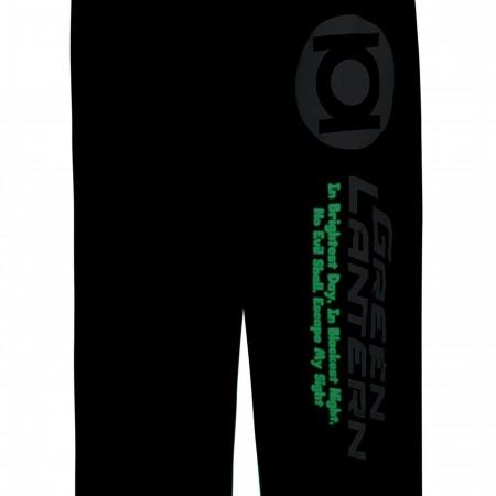 Green Lantern Oath Glow-Ink Unisex Pajama Pants