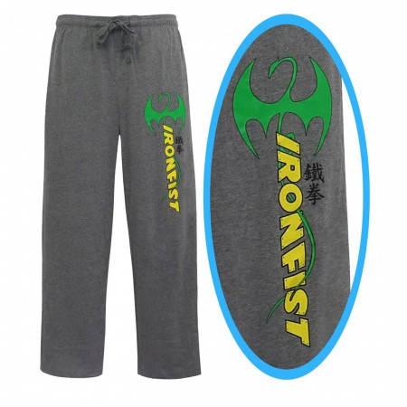 Iron Fist Logo Immortal Dragon Men's Pajama Pants