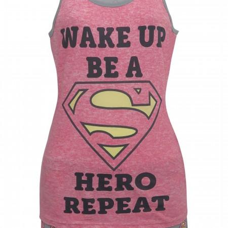 Supergirl Wake Up Women's Sleep Tank & Shorts Set
