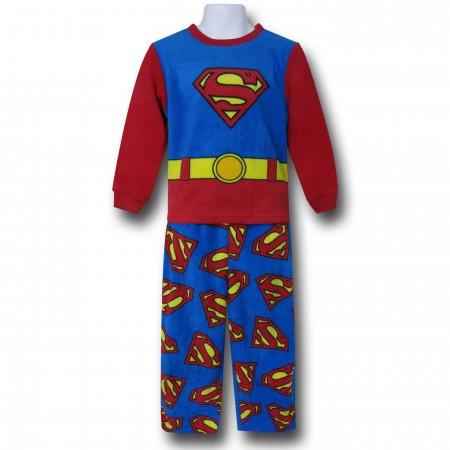 Superman Belt & Symbols Kids 2-Piece Pajama Set