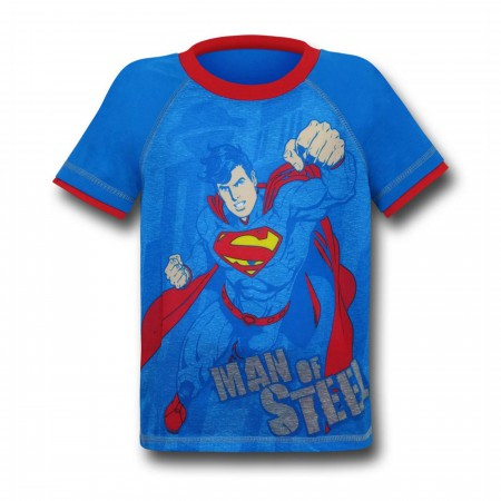 Superman Kids Symbols and Shorts Pajama Set