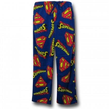 Superman Text & Logos Sleep Pants