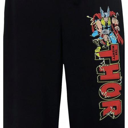 Thor Logo Jack Kirby Men's Pajama Pants