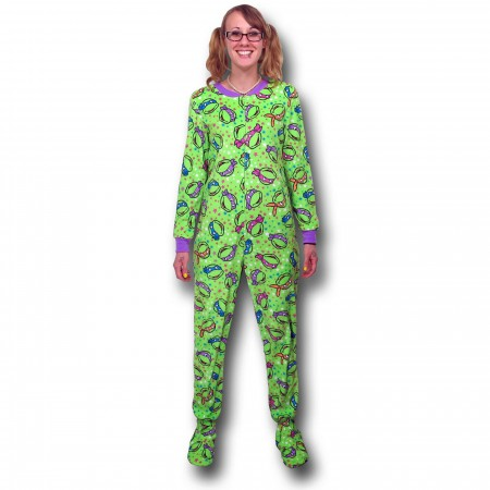 TMNT Faces Women's Footed Pajamas}