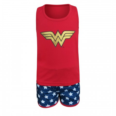 Wonder Woman Kids Tank & Shorts Pajama Set