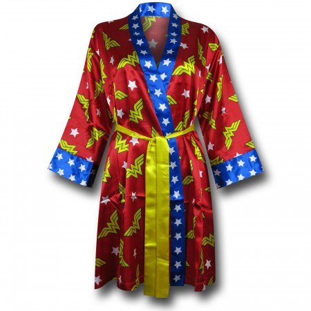 Wonder Woman Women's Silk Printed Robe