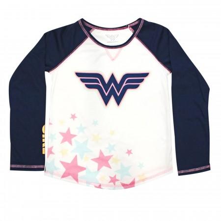 Wonder Woman Stars & Foil Girls Jogger Sleep Set