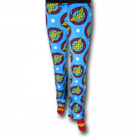 Wonder Woman Symbol Poly Fleece Lounge Pants